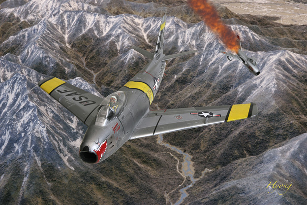 F-86 Sabre vs Mig-15 Korean War