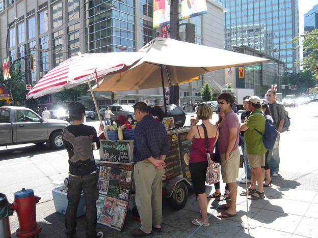 Hotdog shop Japanese owns
