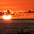 Photos: 夕日とボート