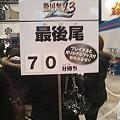 写真: 「戦国無双3 Z」早くも70分待ちとなっております。#jf2011