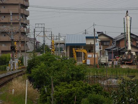 現・柳津駅から見る新・柳津駅
