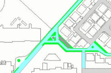 問題のある過剰な植え込みを標した地図(光ヶ丘1)