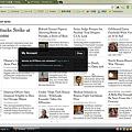 写真: Chromeアプリ:NYTimes(ログイン)
