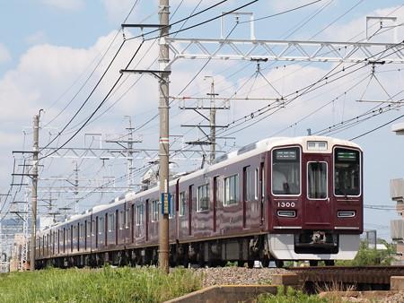 阪急1300系準急後追い 阪急京都線総持寺~茨木市