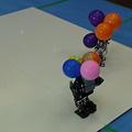 Photos: 風船割りゲームで風船だらけになったBIOLOID GP