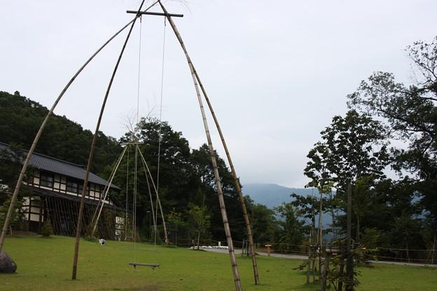 竹のぶらんこ(2)  湯涌創作の森