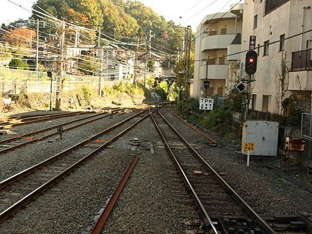 青梅駅上り線路