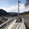 写真: 岩島駅前通り