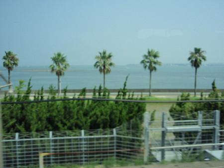 新幹線の車窓(浜名湖)