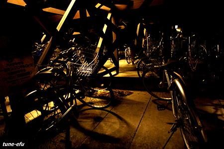 駐輪場の夜