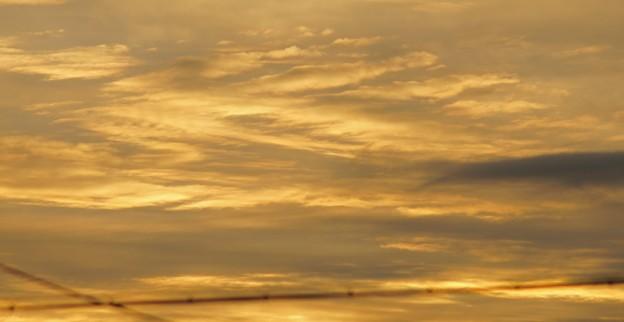 黄金色に輝く朝焼け雲 3