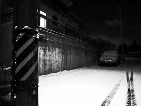 雪の朝の通勤
