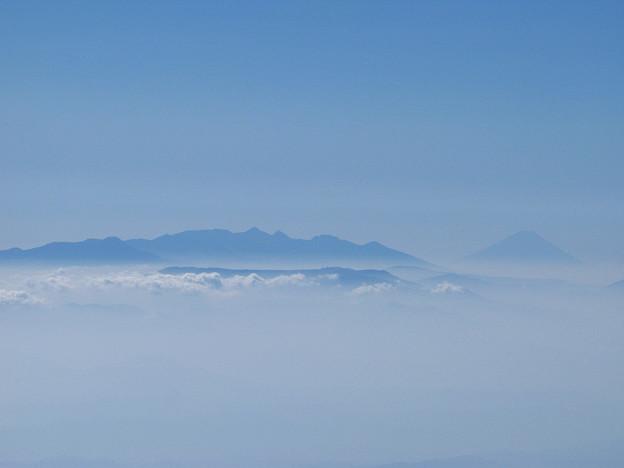 富士と八ヶ岳