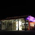 写真: 小湊鐵道 上総鶴舞駅 駅舎イルミネーション1