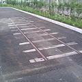 写真: 線路の跡