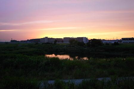 夕焼の始まり