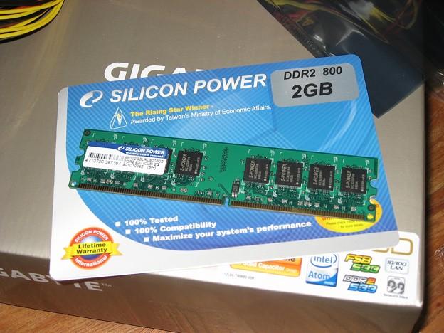 安かった2GBのDDR2メモリー