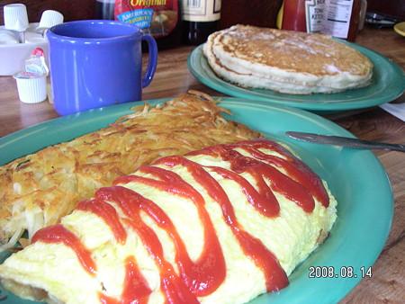 Hawaiian Style Cafeの3つの卵オムレツ2