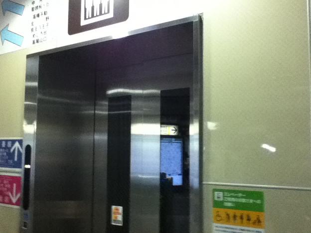 京王線分倍河原駅のエレベーター