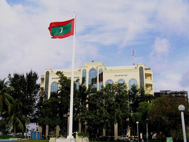 Photos: モルディブの旗よ永遠に