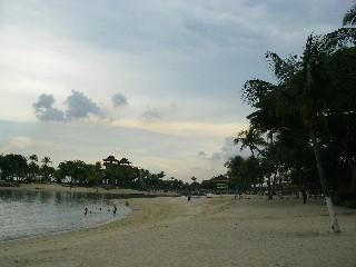 セントーサ島のビーチ