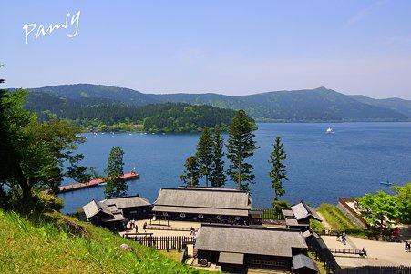 箱根関所 遠見番所からみた風景・・
