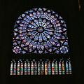 Photos: DSCF0930 ノートルダム寺院のステンドグラス(薔薇窓)