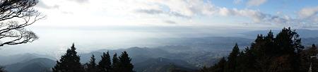大山山頂からスイングパノラマ(南側)