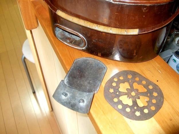 燗銅壺 補修 謎の金具あり
