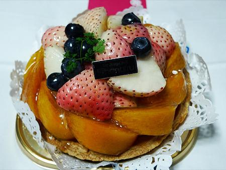 フルーツなかむら~白イチゴ使用のフルーツタルト