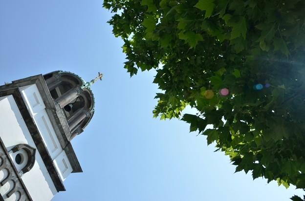 写真: ギリシャ正教の空