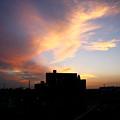 真夏の夕空