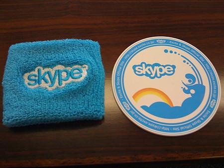Skypeリストバンドとコースター